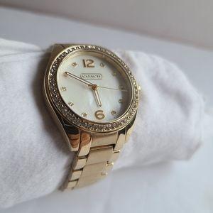 Coach Women's Tristen Crystal Gold-Tone Watch